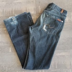 7 for All Mankind Distressed Boot Cut Sz. 29